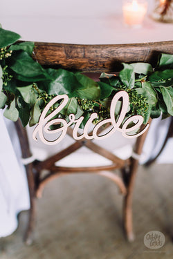 Bride - Wooden Hanging Sign
