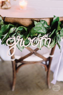 Groom - Wooden Hanging Sign