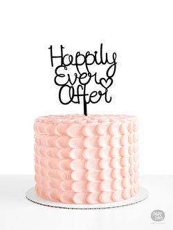 Happy Birthday - Cake Topper - Black Acrylic