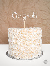 Congrats - Cake Topper - Wood