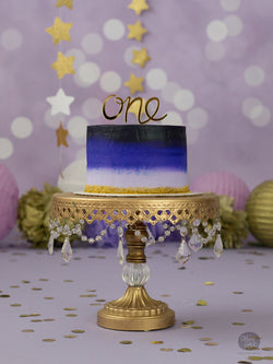 One - Cake Topper - Gold Mirror Acrylic
