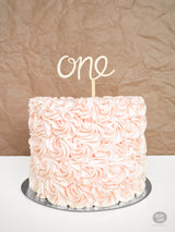 One - Cake Topper - Wood