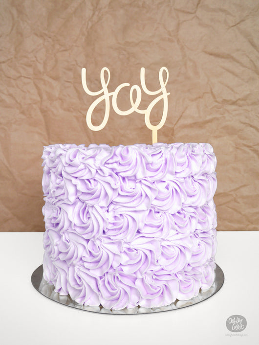 Yay - Cake Topper - Wood