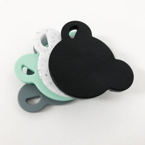 One.Chew.Three Bear Silicone Teething Disc