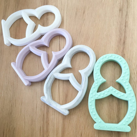 One.Chew.Three Babushka Silicone Teethers