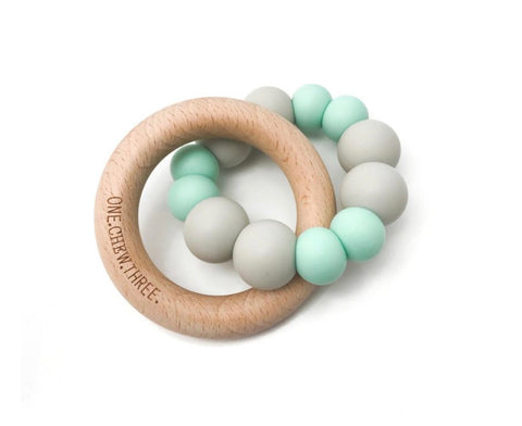 One.Chew.Three DUO Silicone & Beech Wood Teether