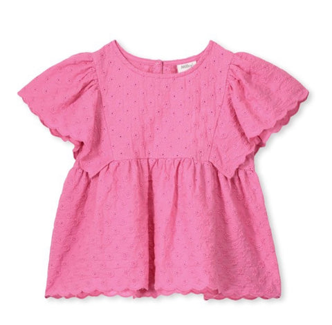 Milky Pink Broderie Top