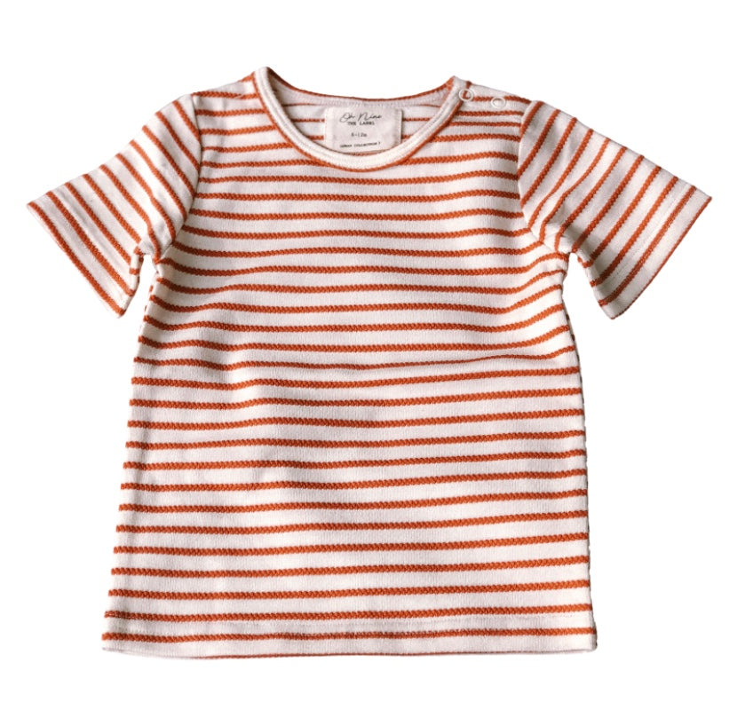 Oh Nine The Label - White Stripe Tee