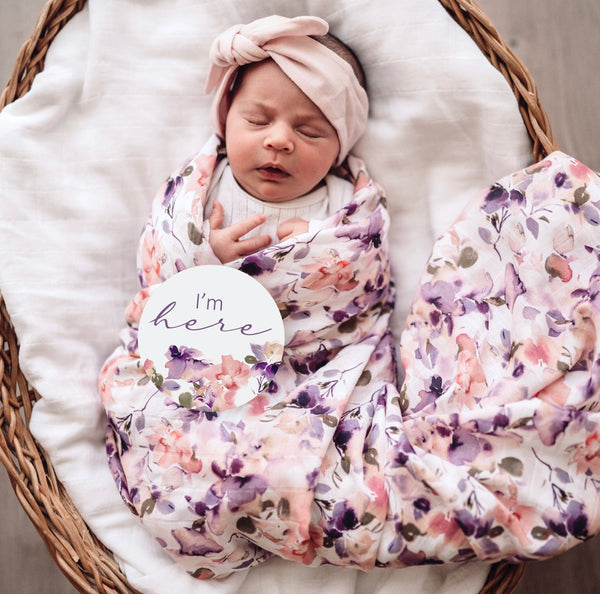 Snuggle Hunny Kids - Organic Muslin Wrap - Blushing Beauty