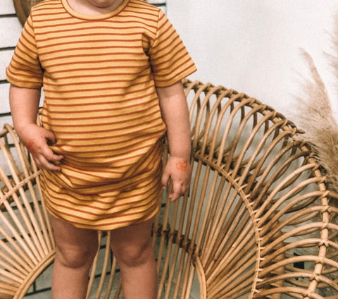Oh Nine The Label - Mustard Stripe Shorts