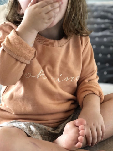 OH NINE THE LABEL - SIGNATURE SWEATER - DUSTY PEACH