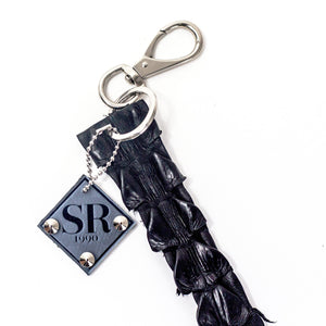 crocodile keychain, designer keychain, SRBP, SRBONYC, luxury keychain, python keychain, luxury bag charm, bag charm, luxury key holder