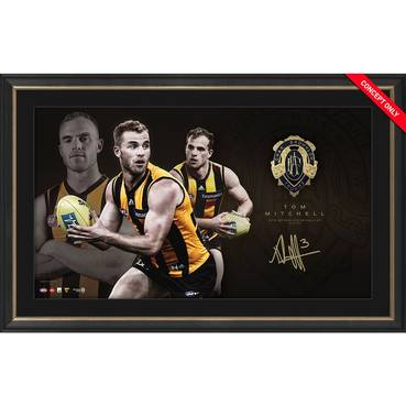HAWTHORN-TOM MITCHELL 2018 BROWNLOW MEDAL DISPLAY