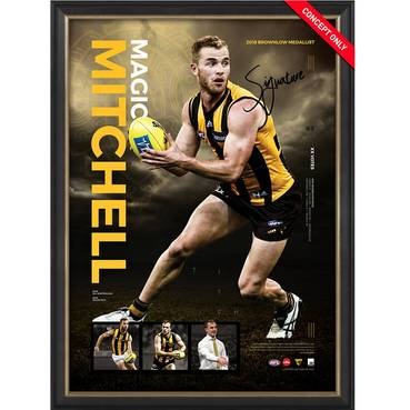 HAWTHORN-TOM MITCHELL 'BALL MAGNET' FRAMED