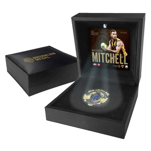 HAWTHORN-TOM MITCHELL BOXED BROWNLOW MEDAL DISPLAY