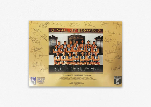 COLLINGWOOD MAGPIES 1990 PREMIERS POSTER