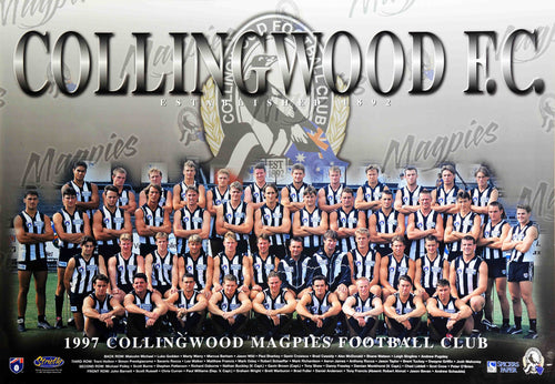 Collingwood 1997 Team Poster