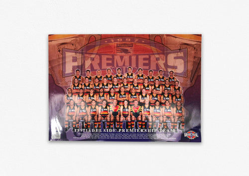 ADELAIDE CROWS 1997 PREMIERS POSTER