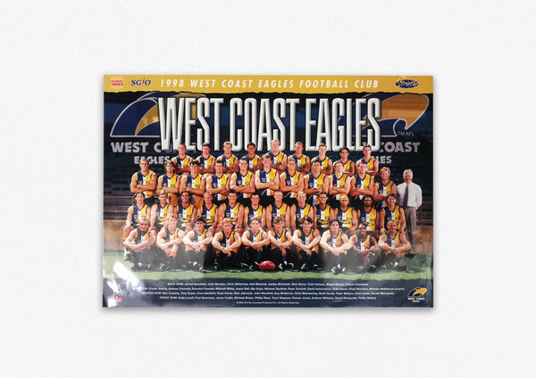 WEST COAST EAGLES 1998 POSTER