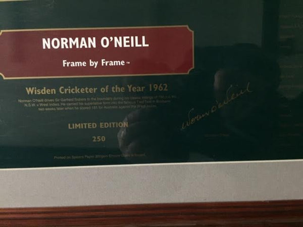 Norman O'Neill Wisden Cricketer of the Year 1962 Poster