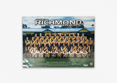 RICHMOND TIGERS 2001 POSTER