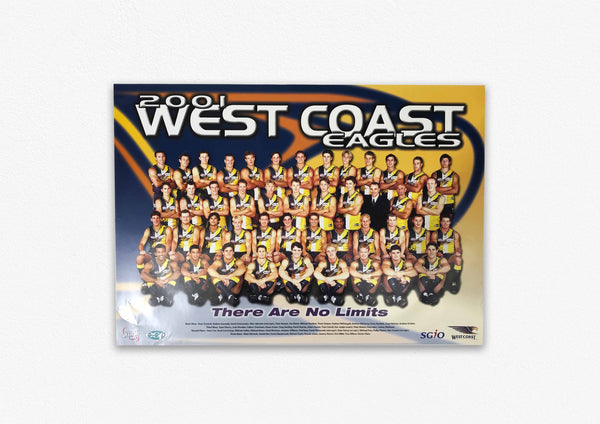 WEST COAST EAGLES 2001 POSTER