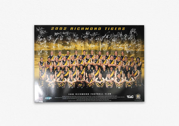 RICHMOND TIGERS 2002 SIGNED POSTER