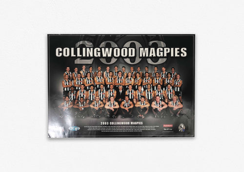 COLLINGWOOD MAGPIES 2003 POSTER