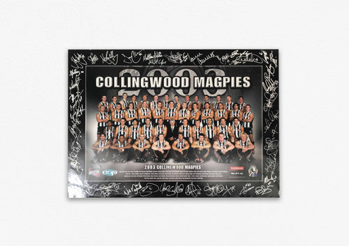 COLLINGWOOD MAGPIES 2003 SIGNED POSTER