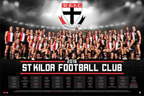 St Kilda Football Club 2016 Team Poster
