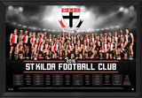 St Kilda Football Club 2016 Team Poster Framed