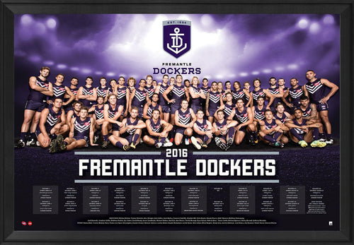 Fremantle 2016 Team Poster Framed