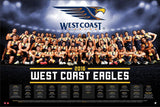 West Coast Football Club Official 2016 AFL Team Poster - West Coast Eagles