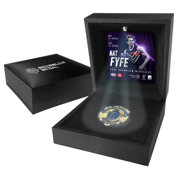 FREMANTLE-Nat Fyfe 2019 Boxed Brownlow Medal Display