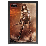 Batman Vs Superman: Dawn Of Justice - Wonder-Woman - Framed