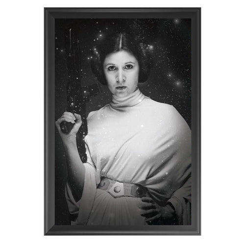 Star Wars - Princess Leia - Black & White Poster - Framed