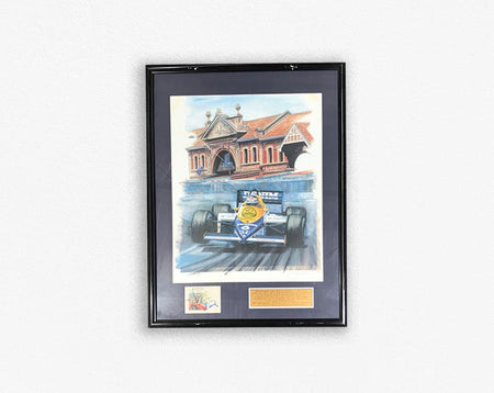 Australian Grand Prix (1987) - Gerbard Bergers framed poster with Signature