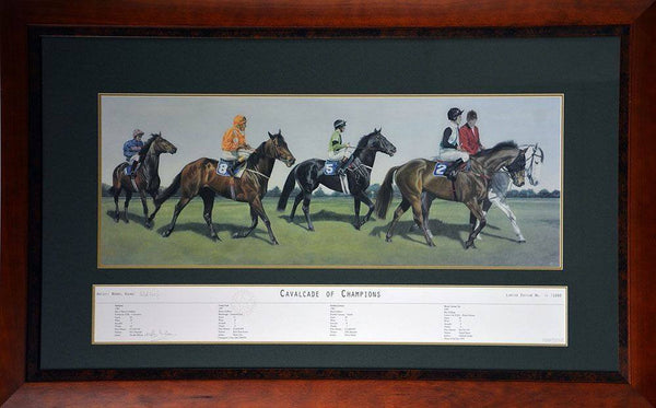 Cavalcade Of Champions Signed Print