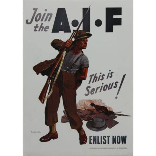 WW1 Enlistment AIF Poster
