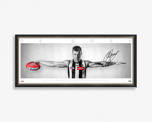Jordan De Goey Signed & Framed Wings tribute