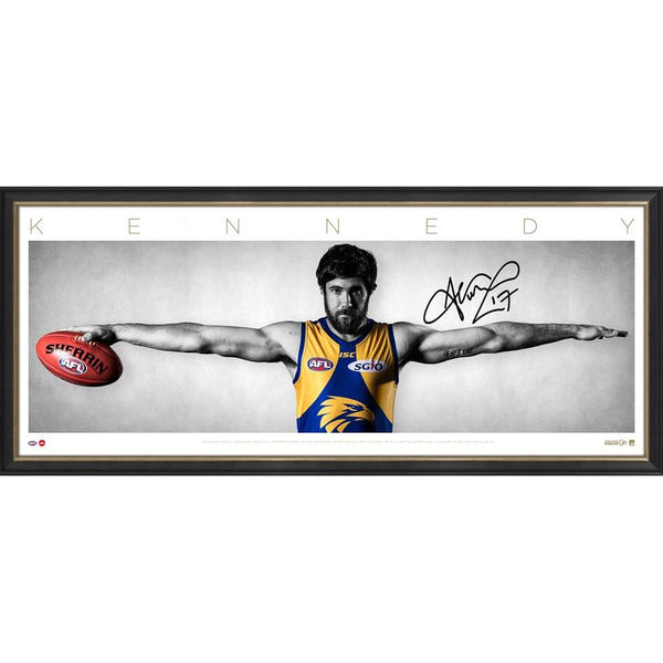 WEST COAST EAGLES-JOSH KENNEDY SIGNED WINGS/FRAMED