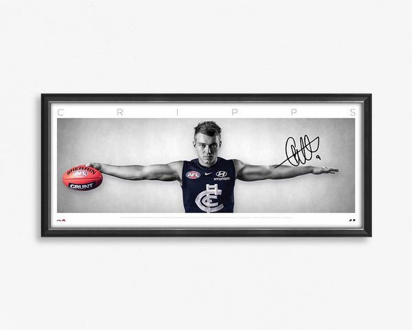 Patrick Cripps Signed & Framed Wings tribute