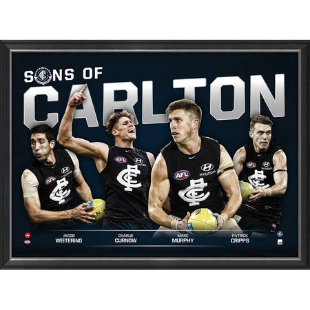 SONS OF RICHMOND - PLAYER POSTER FRAMED
