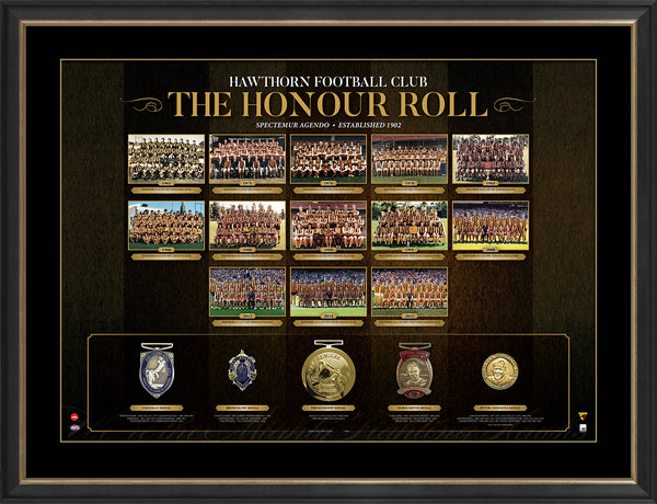 AFL HONOUR ROLL – HAWTHORN FRAMED