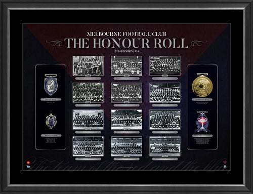 AFL HONOUR ROLL – MELBOURNE FRAMED