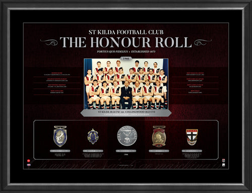 AFL HONOUR ROLL - ST KILDA FRAMED