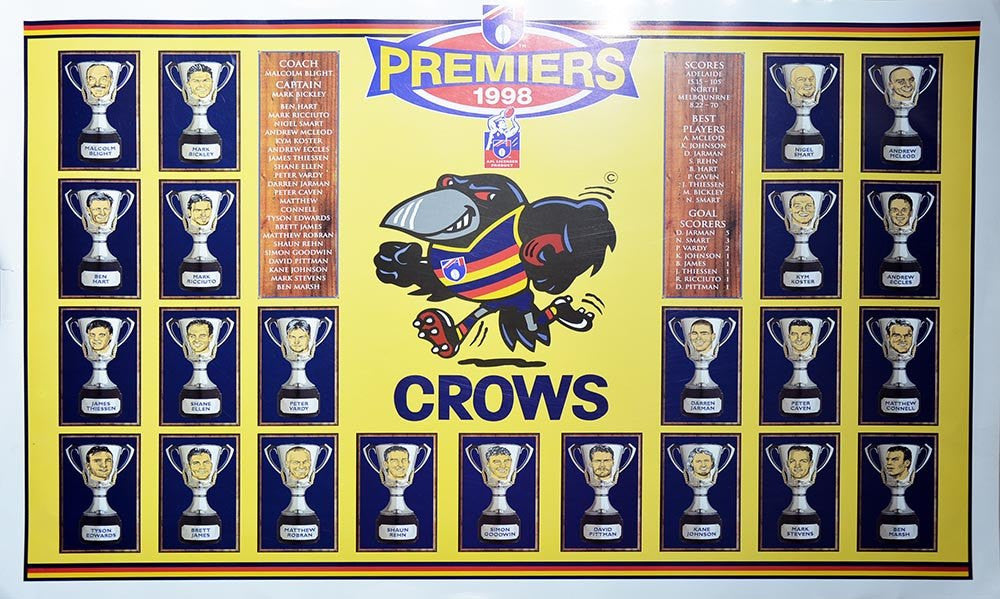Adelaide 1998 Premiers Team Poster