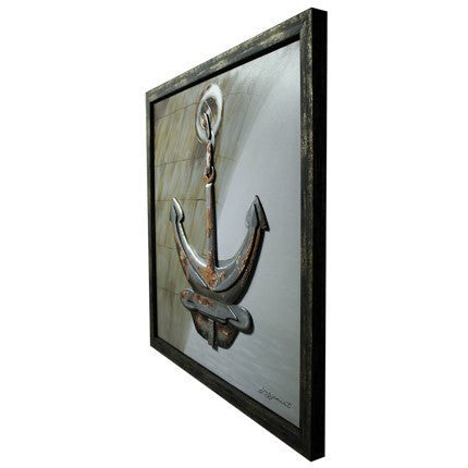 3D Anchor Framed Canvas