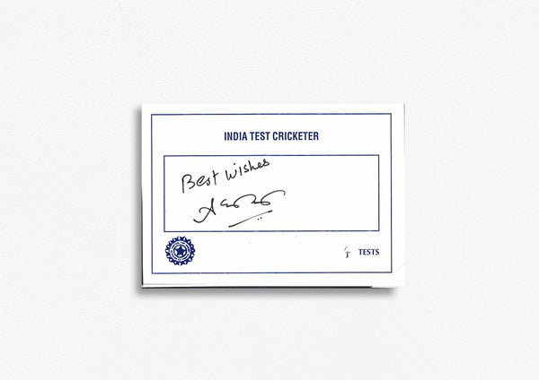 Indian Test Cricketer Card Signed - Ashish Kapoor
