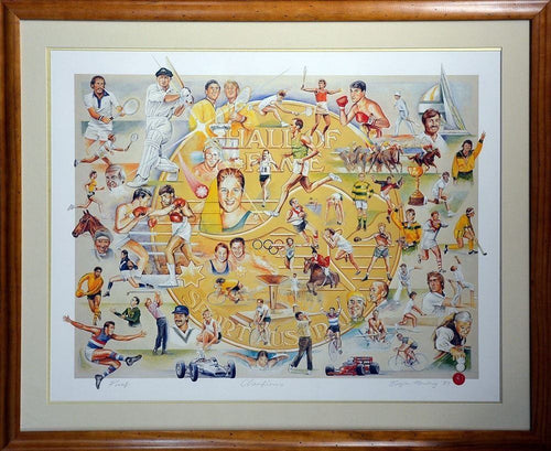 Australian Sporting Hall Of Fame Signed Print